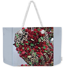 Christmas Heart Weekender Tote Bag by Linda Prewer