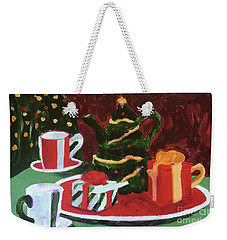Weekender Tote Bag featuring the painting Christmas Holiday by Donald J Ryker III