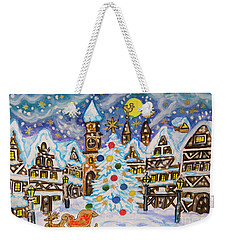 Christmas In Europe Weekender Tote Bag