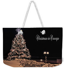 Weekender Tote Bag featuring the photograph Christmas In Oswego by Everet Regal