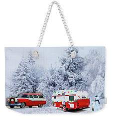 Christmas In The Fifties Weekender Tote Bag