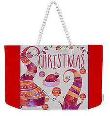 Weekender Tote Bag featuring the photograph Christmas by Jeff Burgess