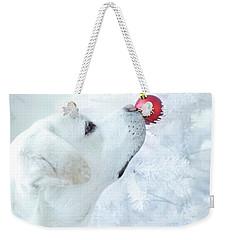 Christmas Lab Weekender Tote Bag