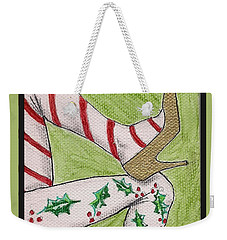 Christmas Legs Weekender Tote Bag