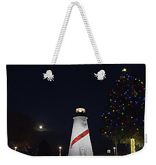Christmas Lighthouse Weekender Tote Bag