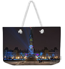 Weekender Tote Bag featuring the photograph Christmas Lights Across Canada.. by Nina Stavlund
