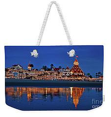 Christmas Lights At The Hotel Del Coronado Weekender Tote Bag