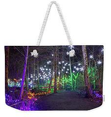 Christmas Lights Decoration Along Lafarge Lake Path Weekender Tote Bag