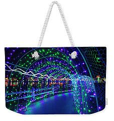 Christmas Lights In Tunnel At Lafarge Lake Weekender Tote Bag