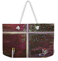 Christmas Moon Weekender Tote Bag