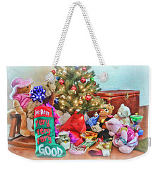 Christmas Morning Fun Weekender Tote Bag