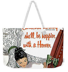 Christmas Morning She Will Be Happier With A Hoover Weekender Tote Bag