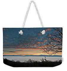Weekender Tote Bag featuring the photograph Christmas Morning Sunrise 2016 by Lara Ellis
