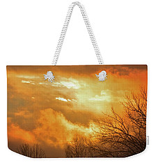 Weekender Tote Bag featuring the photograph Christmas Morning Sunrise by Diane Alexander