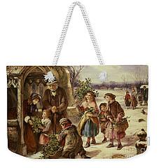 Christmas Morning Weekender Tote Bag