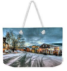 Christmas On Main Street Weekender Tote Bag