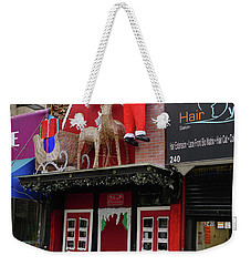 Christmas On Sherman Avenue  Weekender Tote Bag by Cole Thompson