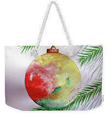Weekender Tote Bag featuring the painting Christmas Ornament by Edwin Alverio