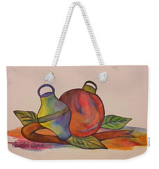 Christmas Ornaments Weekender Tote Bag by Christy Saunders Church