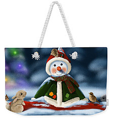 Christmas Party Weekender Tote Bag by Veronica Minozzi