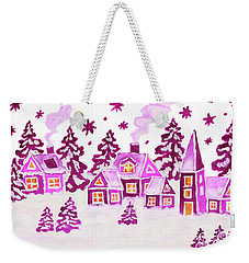 Christmas Picture In Pink Colours Weekender Tote Bag