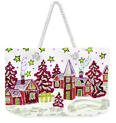 Christmas Picture In Red Weekender Tote Bag