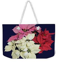 Christmas Pointsettias Weekender Tote Bag