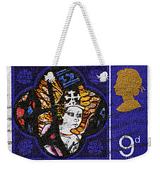 Christmas Postage Stamp Weekender Tote Bag by Paul W Faust - Impressions of Light