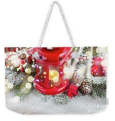 Christmas Red Lantern  Weekender Tote Bag