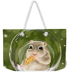 Weekender Tote Bag featuring the painting Christmas Relax by Veronica Minozzi
