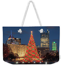 Weekender Tote Bag featuring the photograph Christmas  Season In Pittsburgh  by Emmanuel Panagiotakis
