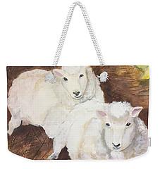 Christmas Sheep Weekender Tote Bag