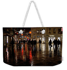 Weekender Tote Bag featuring the photograph Christmas Shopping by Inge Riis McDonald