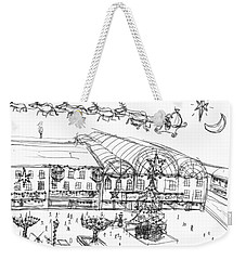 Weekender Tote Bag featuring the painting Christmas Shopping by Artists With Autism Inc