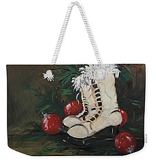 Christmas Skates Weekender Tote Bag by Terri Einer
