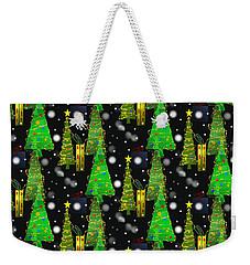 Christmas Snow Fall Weekender Tote Bag