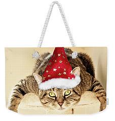 Christmas Splat Cat Weekender Tote Bag
