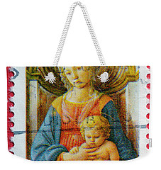 Christmas Stamp Weekender Tote Bag