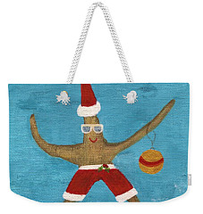 Christmas Starfish Weekender Tote Bag by Jamie Frier