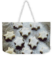 Christmas Stars Weekender Tote Bag by Marija Djedovic