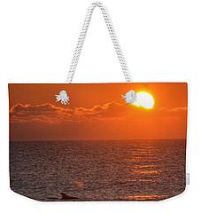 Christmas Sunrise On The Atlantic Ocean Weekender Tote Bag