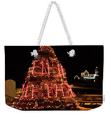 Christmas Time At Nubble Light Weekender Tote Bag by Patrick Fennell