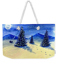 Weekender Tote Bag featuring the painting Christmas Time by Stacy C Bottoms