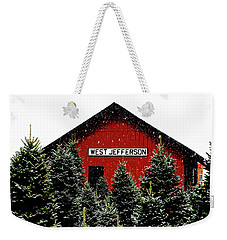 Christmas Town Weekender Tote Bag by Dale R Carlson