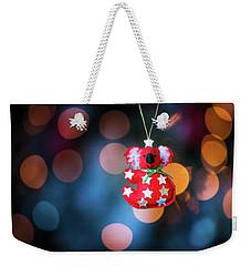 Christmas Tree Decoration With Bokeh Weekender Tote Bag