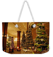 Weekender Tote Bag featuring the photograph Christmas Tree by Eric Liller