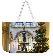 Christmas Tree In Ferstel Passage Vienna Weekender Tote Bag