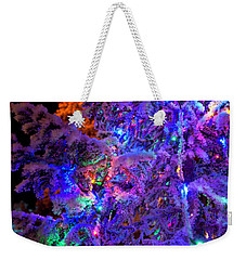 Christmas Tree Night Decoration Weekender Tote Bag