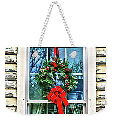 Weekender Tote Bag featuring the photograph Christmas Window by Sandy Moulder