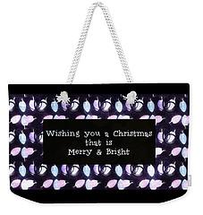 Christmas Wishes Weekender Tote Bag